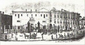 La Real Fonderia di Palermo nel 1835. Era nata come arsenale alla Cala.